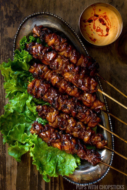 Grilled Thai Coconut Chicken Skewers,Grilled Chicken Skewers...