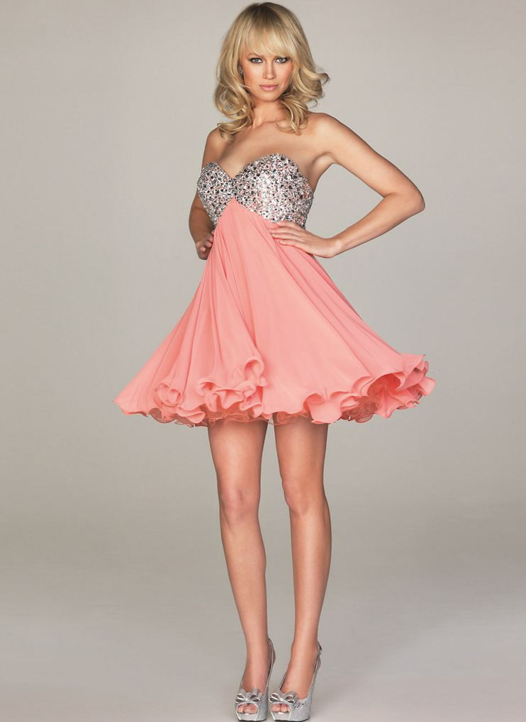 Cute Short Pink Dresses