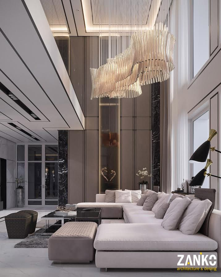 Luxurious Living Room Designs: Modern Apartment ,Moscow, Russia On Behance (With Images