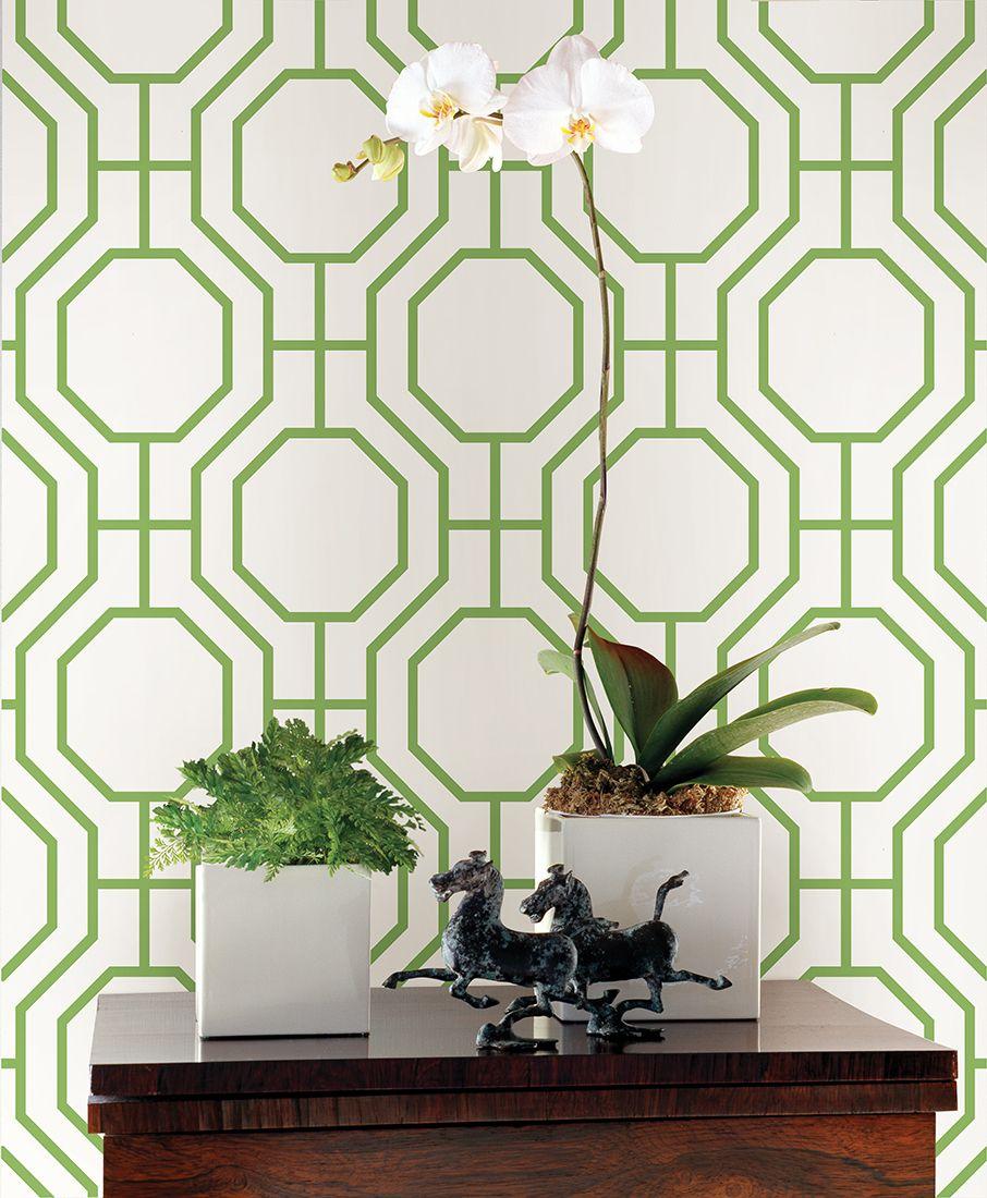 Kitchen Wallpaper Green: Circuit Green Modern Ironwork