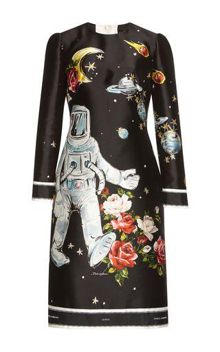 Medium dolce gabbana black long sleeve galaxy dress