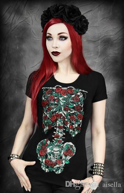 2015 Punk Graphic Tees Women T Shirt Hallween Clothes Spooky Print Short Sleeve Casual 3d T Shirt Brand Top Tees From Aisella, $6.28 | Dhgate.Com