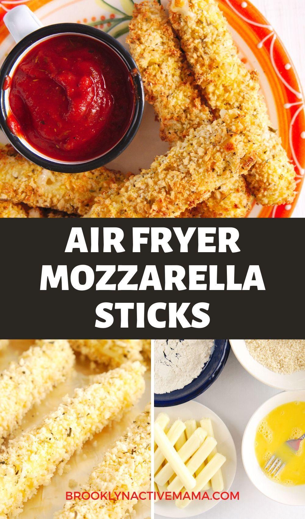 Healthy air fryer mozzarella sticks recipe mozzarella