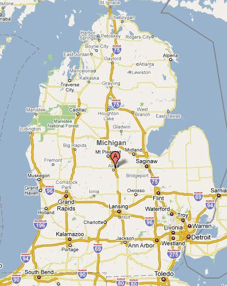 Kubin S Directions Michigan State Map Boyne City Alpena
