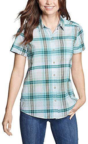 Best Seller Eddie Bauer Women's Packable Short-Sleeve Shirt – Boyfriend online – Thechicfashionideas