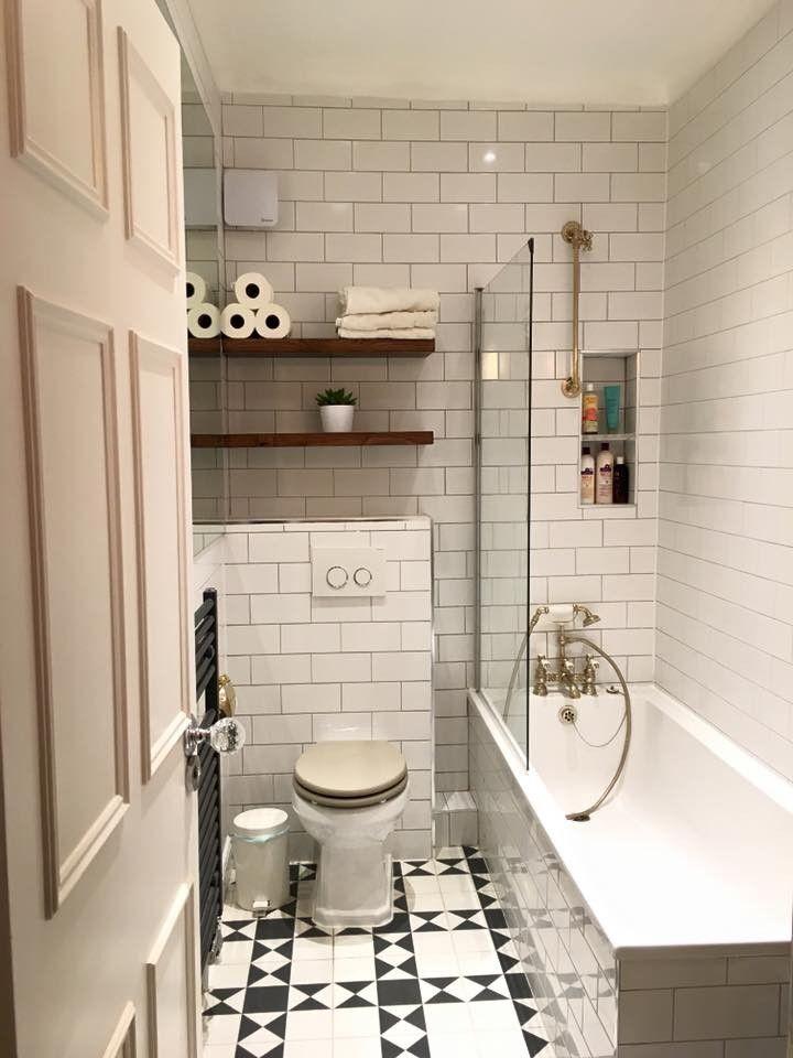 Exeter Black and White Victorian Floor Tile   Banheiro   Pinterest ...