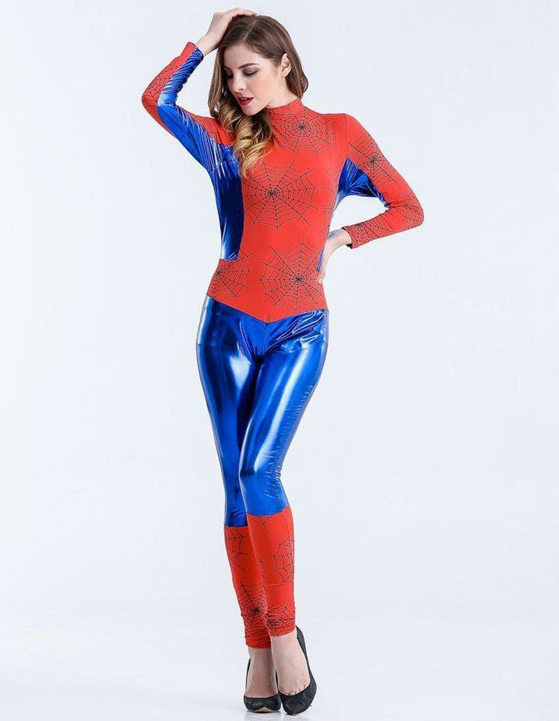 Female Spiderman Women Catsuit Halloween Costume | Pinterest | Catsuit Spiderman and Halloween costumes  sc 1 st  Pinterest & Female Spiderman Women Catsuit Halloween Costume | Pinterest ...