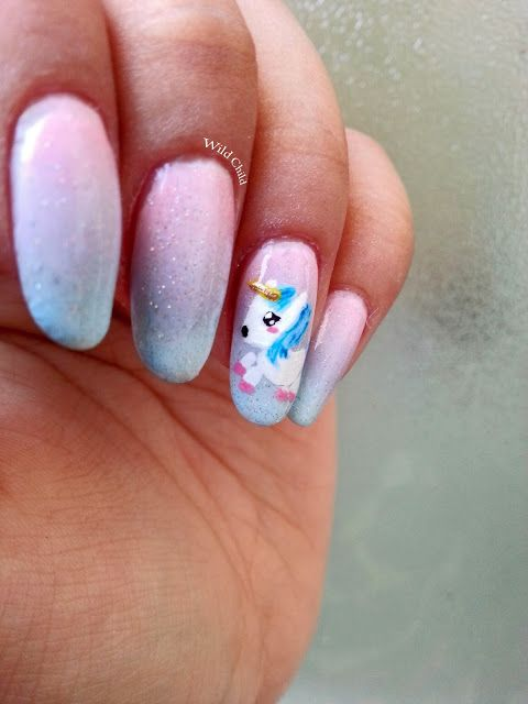 Wild Child: Unicorns, I loooove them nail art
