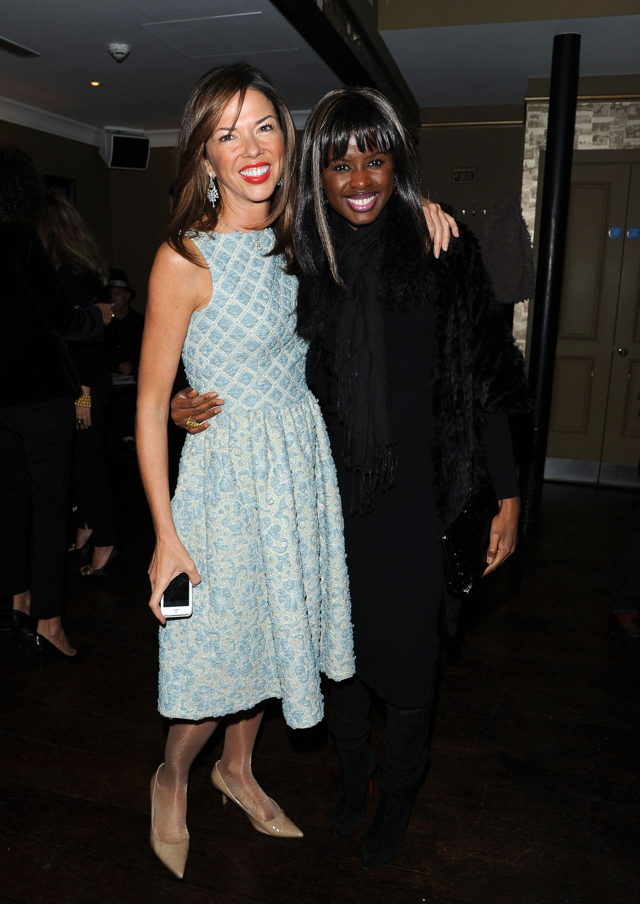 Heather Kerzner in Madderson London\'s Marnie dress with June Sarpong ...