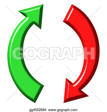 Stock Illustration 3d Circular Up And Down Arrows Clip Art Stock Illustration Illustration Clip Art