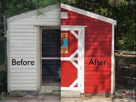 cute chicken coop from ugly tool shed - youtube it is amazing what a
