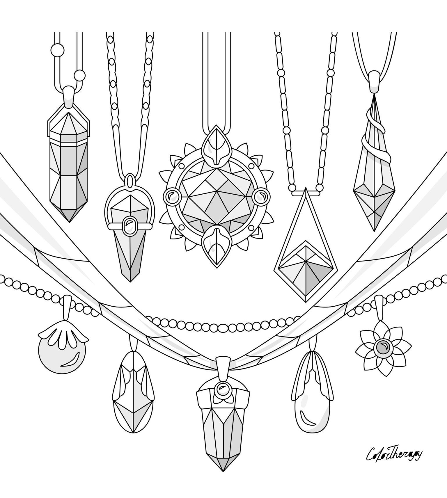 The Sneak Peek For The Next Gift Of The Day Tomorrow Do You Like This One Pendants Crystals D Coloring Pages Cute Coloring Pages Color Therapy App