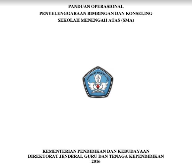 Panduan Bk Sma 2016 Revisi Final Ditjen Gtk Pendidikan Konseling Konseling Sekolah