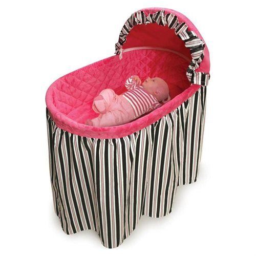 Bassinet with Striped Bedding Set   MOISS BABY ...