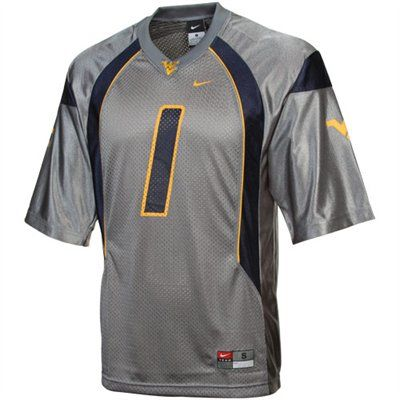 timeless design 9277b 4122d Nike West Virginia Mountaineers #1 Replica Football Jersey ...
