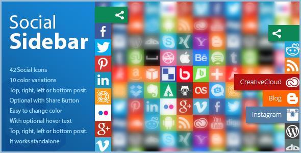 Social Sidebar - CSS Social Bar with Icons   Best Wordpress Plugins