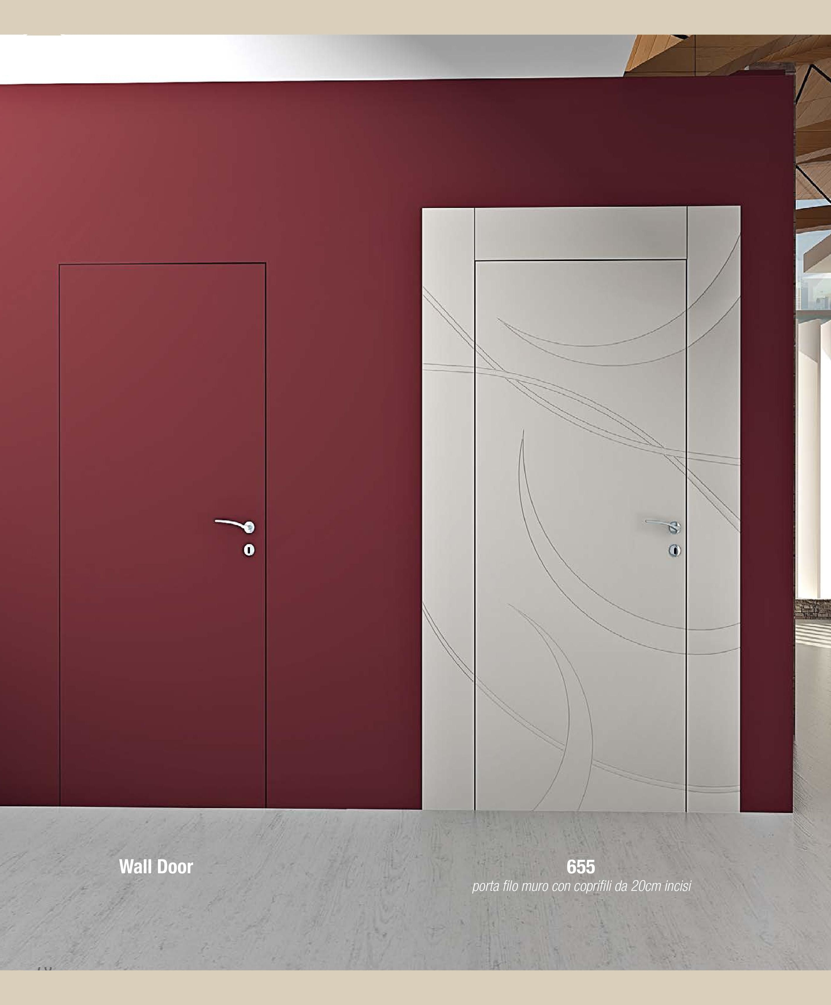 Porte Filo Muro Specchio porteinterne #porteinlegnomassello #portefilomuro #design
