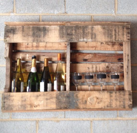 Handmade Pallet Wine Rack, Magazine Rack, Rustic Decor, Upcycled, Reclaimed,  Home