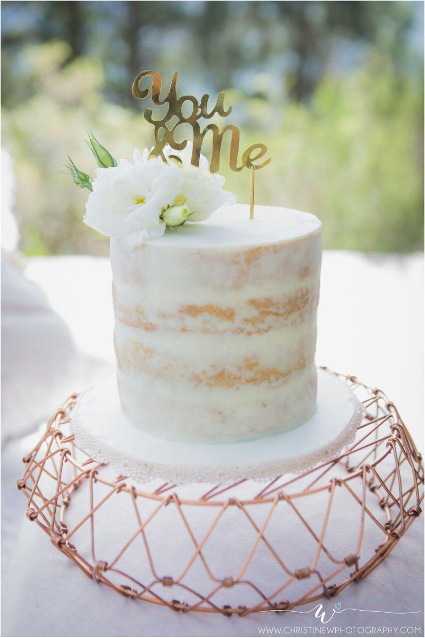 Naked White Chocolate Ganache Wedding Cake | The Cake Witch - My ...