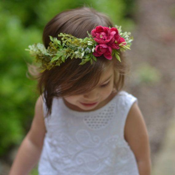 boho flower crown toddler