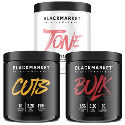 BLACKMARKET LABS ADRENOLYN CUTS / BULK / FIERCE TONE (30 SERVINGS) preworkout Bl...
