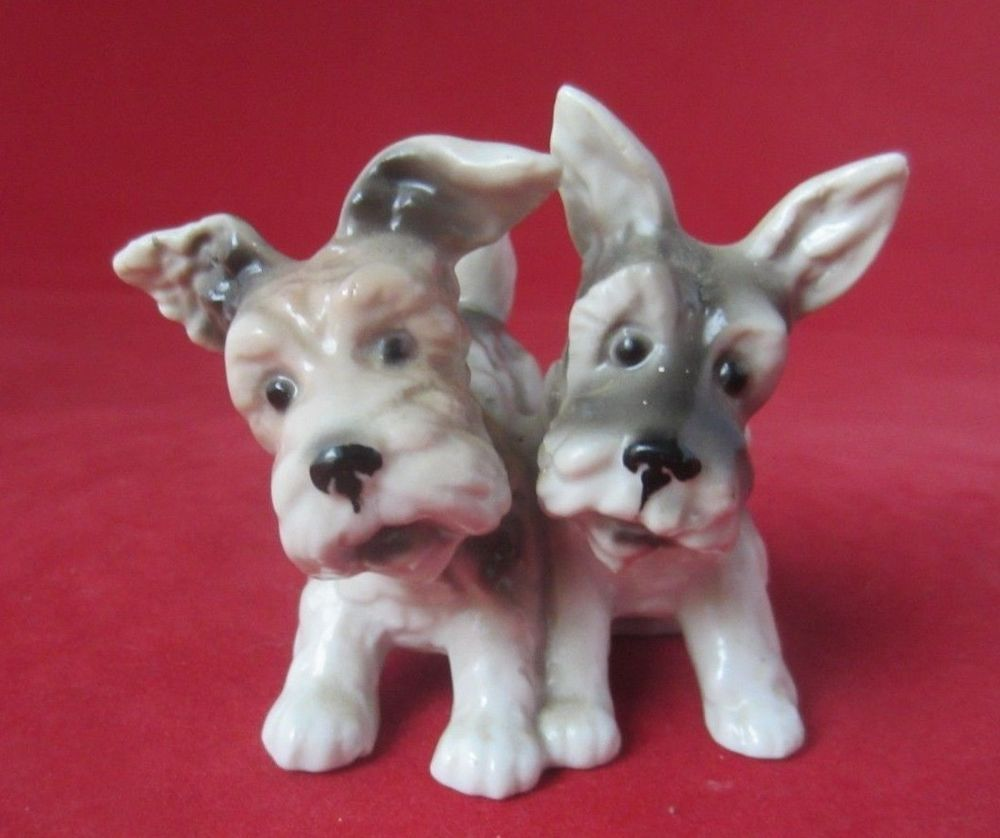2 Porzellan Hunde Thuringen Terrier Suss Tierfigur Stempelt Tierfiguren Terrier Hunde