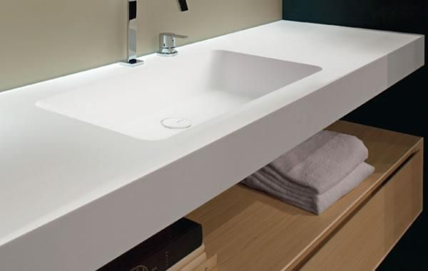 Charmant Bathroom Countertop And Integrated Sink Part 8 Corian