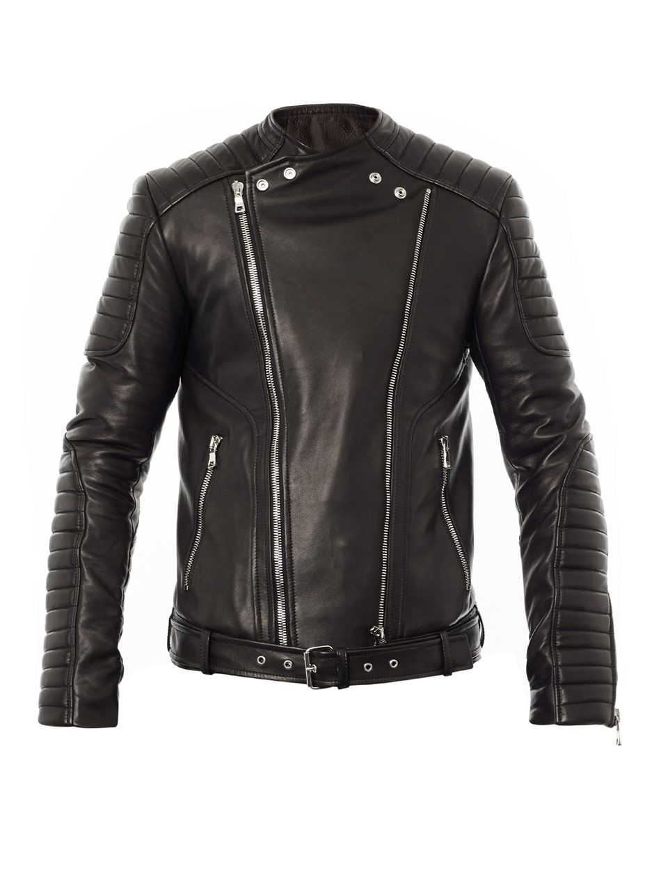 ff5d4bbc Quilted leather biker jacket | Balmain | MATCHESFASHION.COM ...