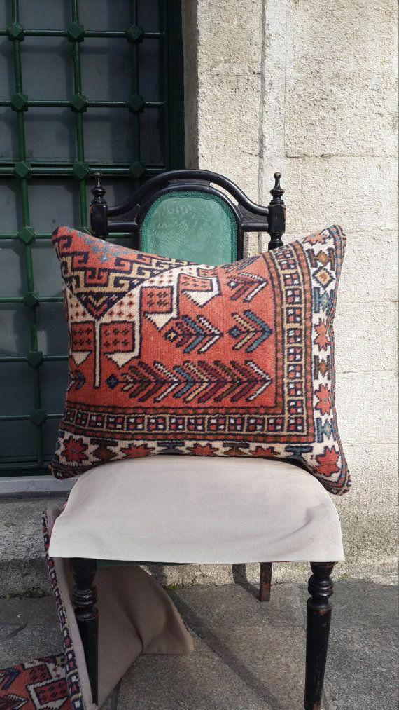rug pillowsoft wool rug pillowlarge pillowsofa by easternhandart