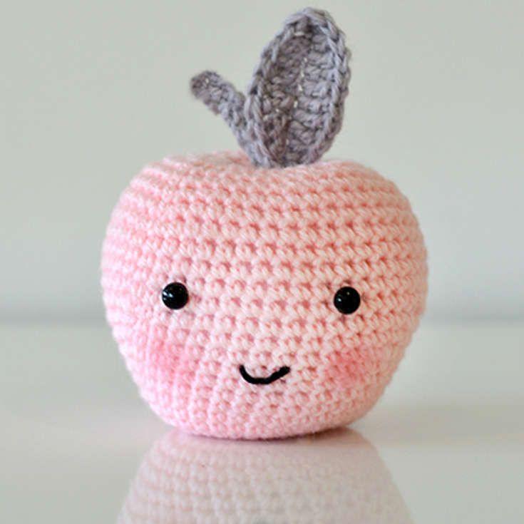 Crochet Amigurumi Apple Free Pattern - Crochet Amigurumi Fruits Free  Patterns • DIY How To | 735x735