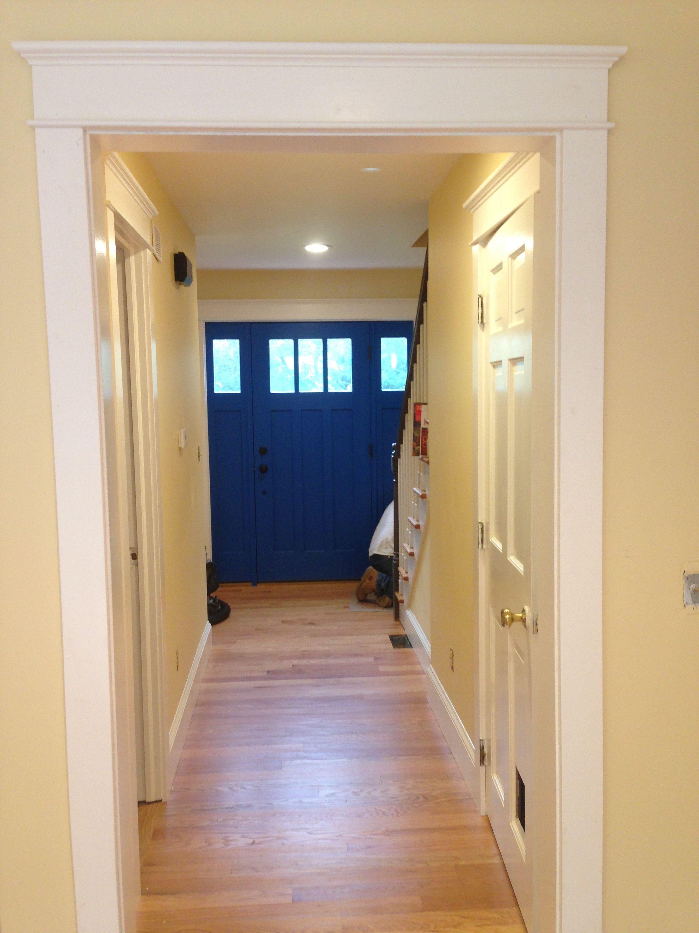 My Beautiful Blue Front Door Door Is Behr Color Blue Ocean Walls Are Behr Color Pale Honey And
