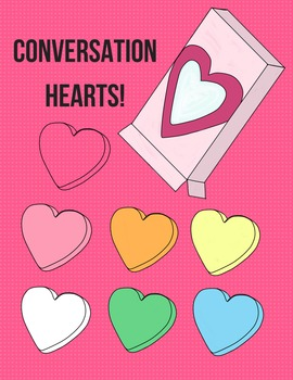 Blank Conversation Hearts Clip Art | Heart, Valentines and Art