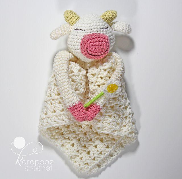 Daisy The Happy Cow security blanket pattern by Karapooz Krochet ...