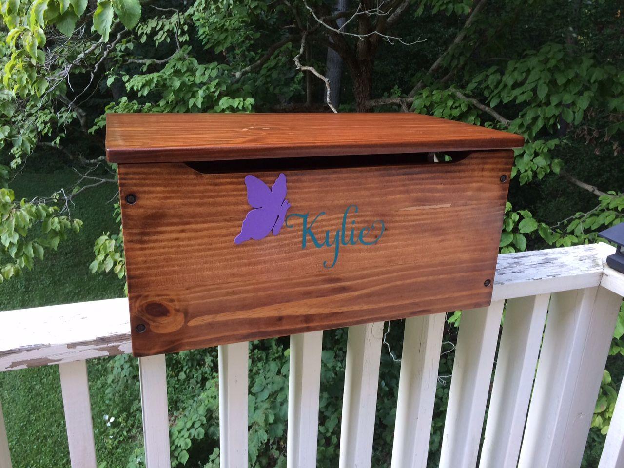 Custom Script Name For Little Girls Toy Box Hope Chest Vinyl - Custom vinyl decals for wood