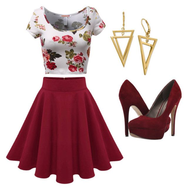 Regal in Red by meganlynntaylor on Polyvore featuring polyvore, fashion, style, Michael Antonio and clothing