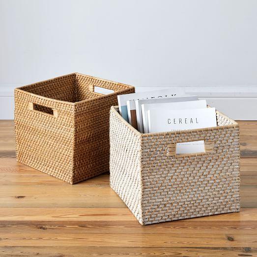 Modern Weave Harvest Baskets w/ Handles