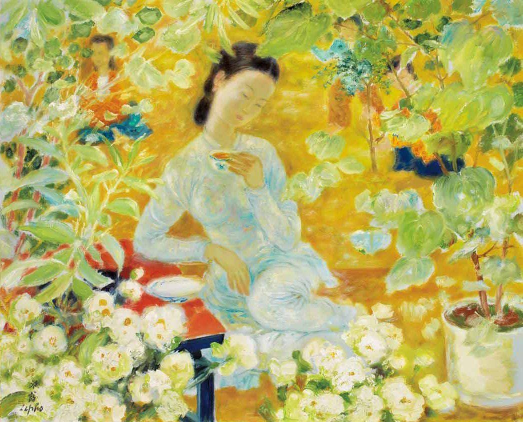L Heure Du The Le Pho 1907 2001 Vietnam Art Art Picture Illustration