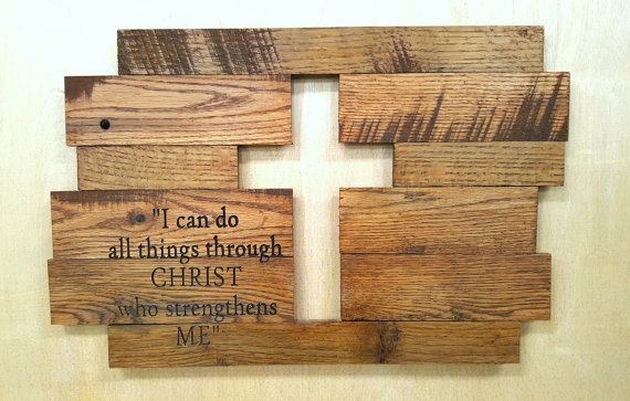 Rustic Cross with any Lettering #rusticwoodprojects
