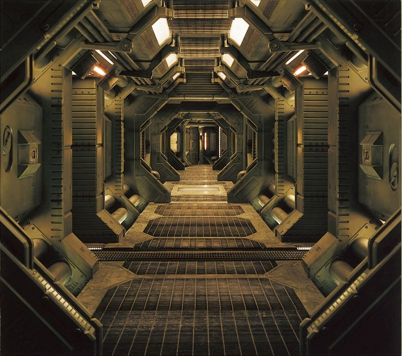 Interior Of An Industrial Or Spaceship Corridor With Images