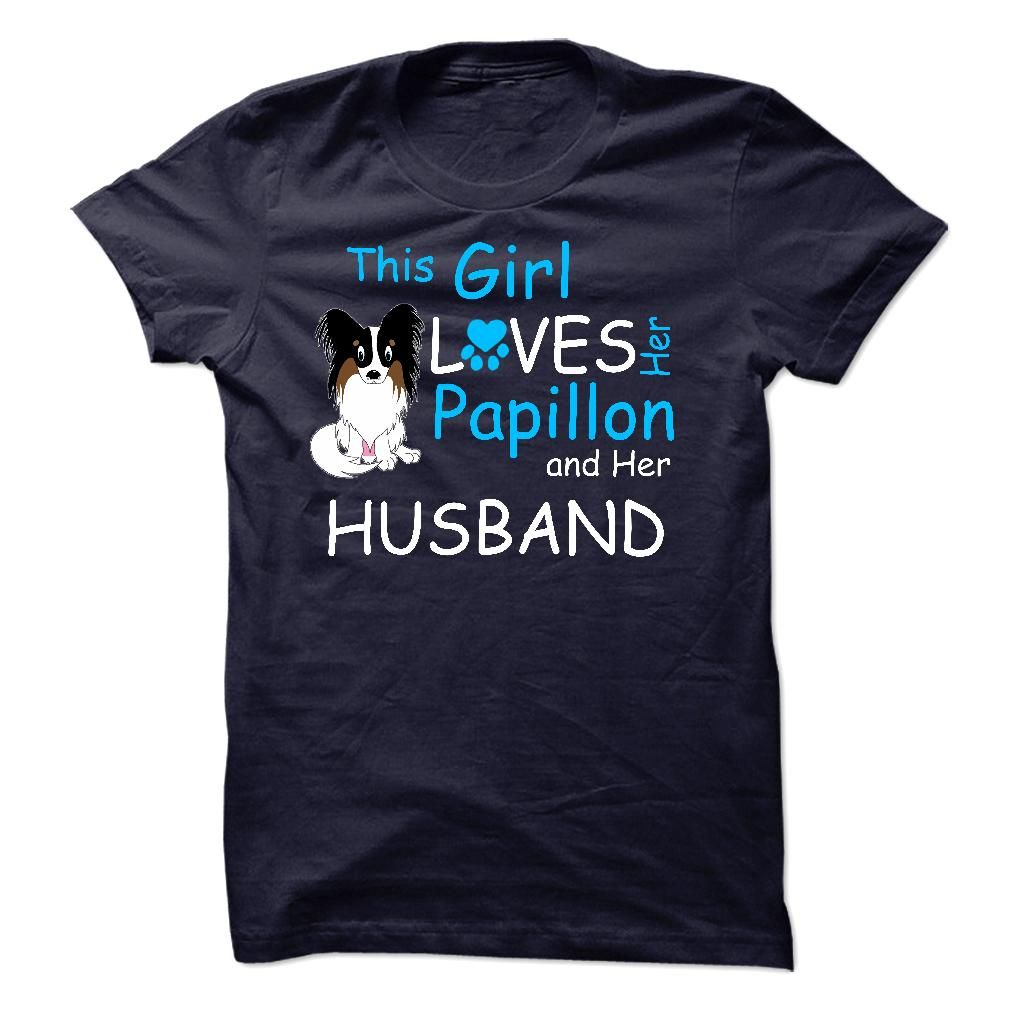 This Girl Loves Her Papillon T-Shirts, Hoodies. CHECK PRICE ==► https://www.sunfrog.com/Pets/This-Girl-Loves-Her-Papillon--T01.html?id=41382