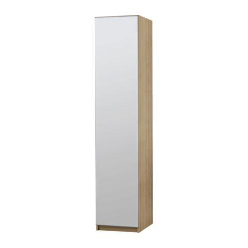 Armoire PAX structure bouleau et façade miroir (Ikea) Dans ma