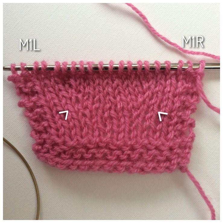 Tutorial: breien M1L en M1R toeneemt | La Visch Designs