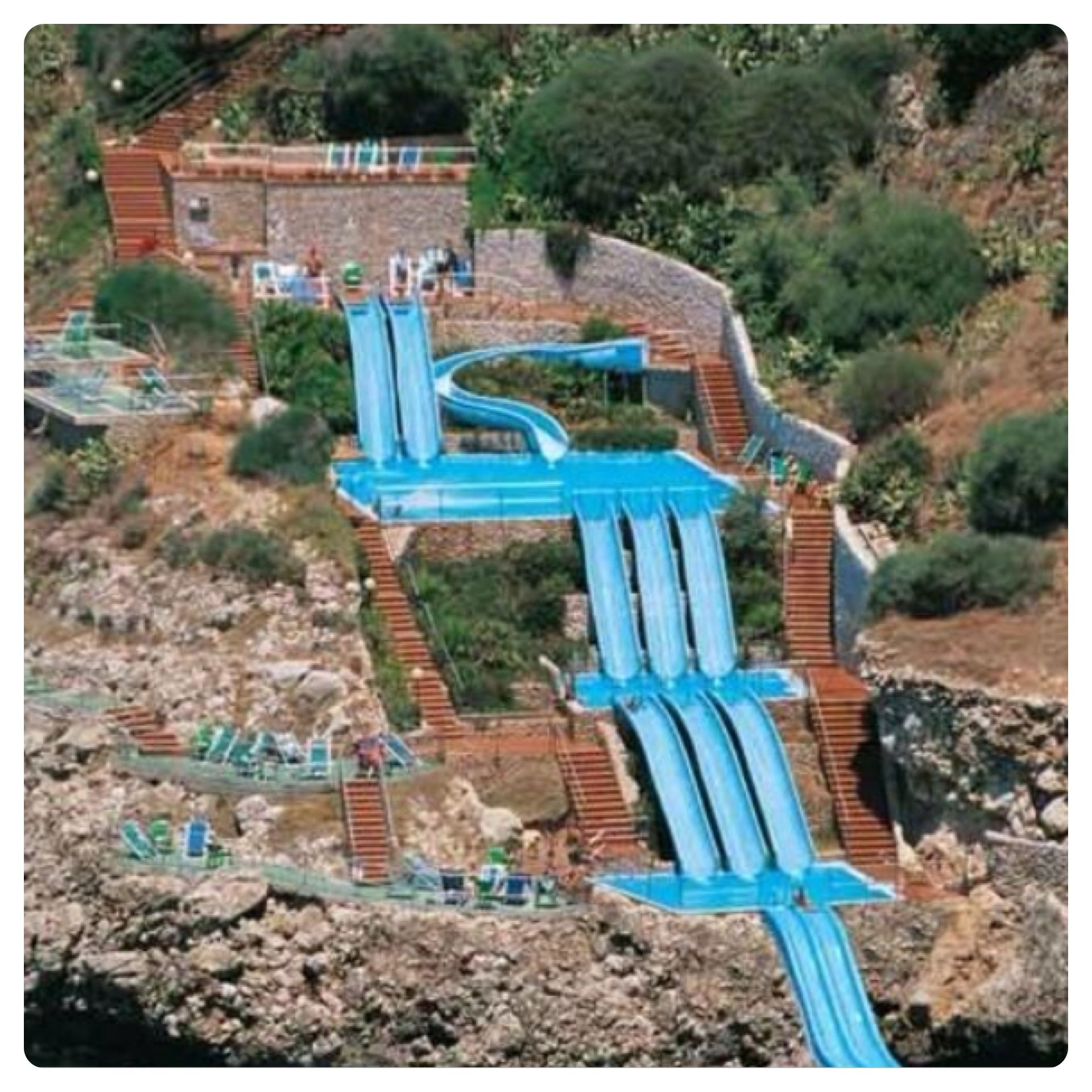 Sicily  Hotel Citta Del Mare  Waterslide Carved Into