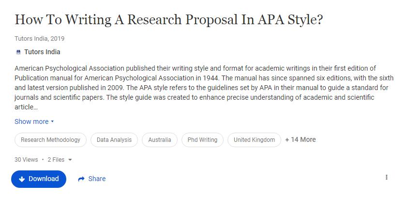 Dissertation proposal writing style