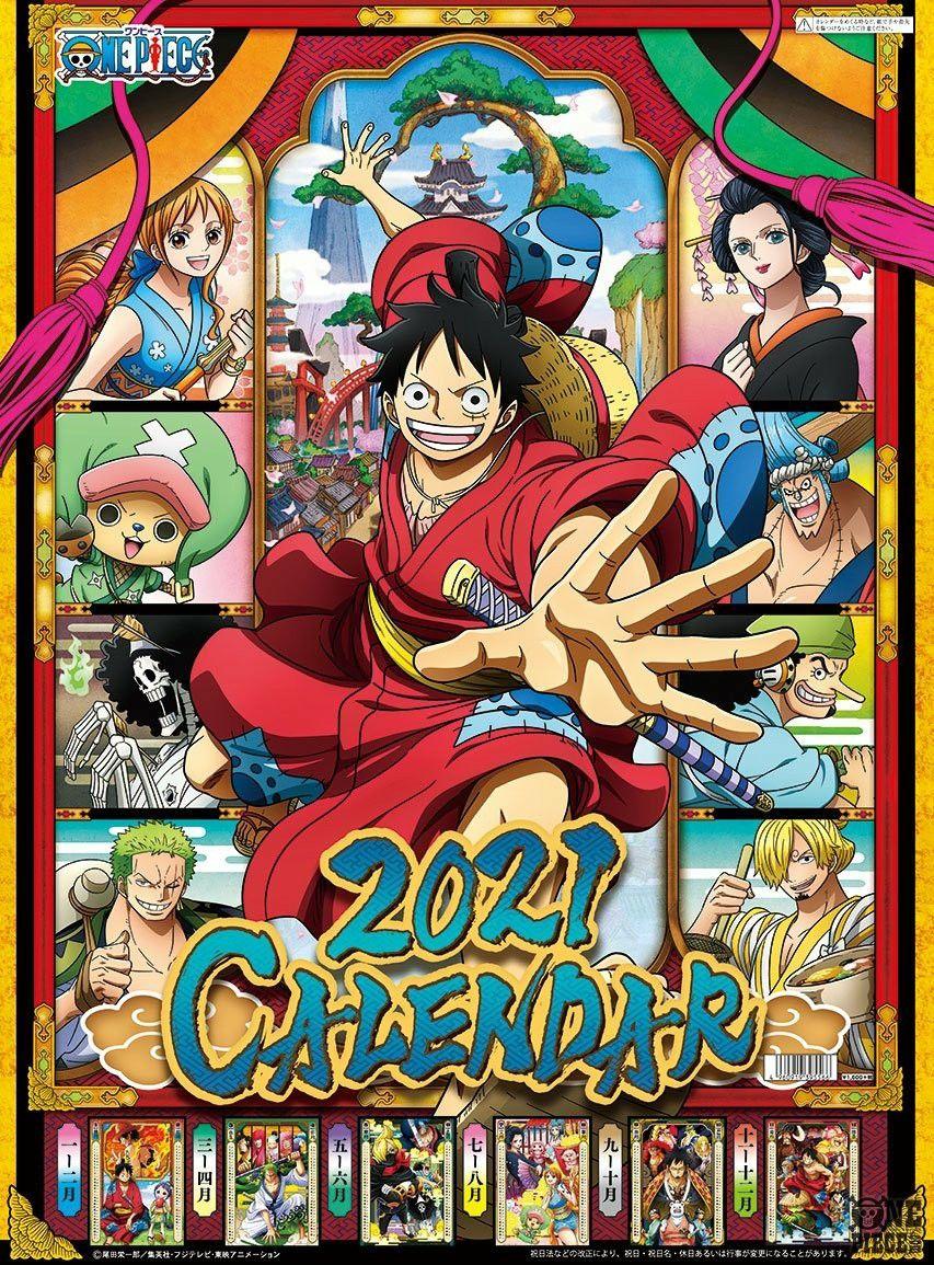 Calendar 2021 One Piece One Piece Anime Anime One Piece World
