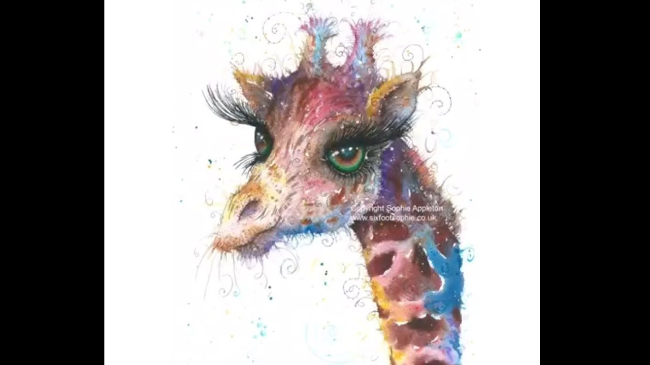 WATERCOLOUR ANIMALS AMAZING COLOURS by Sophie Appleton - YouTube