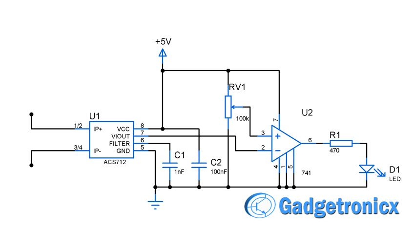 current sensor switch circuit circuit diagram circuits and rh pinterest com Current Sensing Relay Schematic Control Relay Schematic