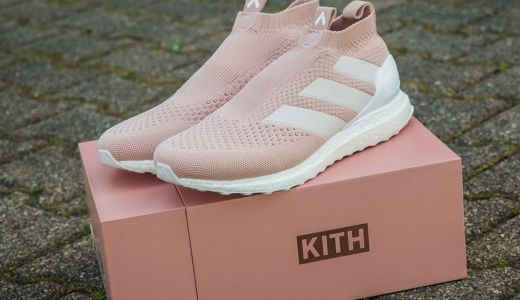 the best attitude d9e9c 58bac KITH x adidas Ace 16+ Ultra Boost Vapour Pink