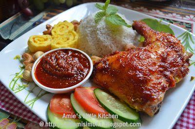 Amie S Little Kitchen Nasi Lemak Ayam Panggang Pedas Madu Nasi Lemak Ayam Panggang Makanan
