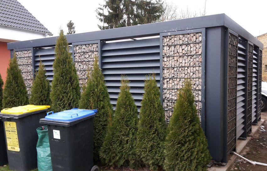 Gabionen Carport gabionen carport steelmanufaktur garage